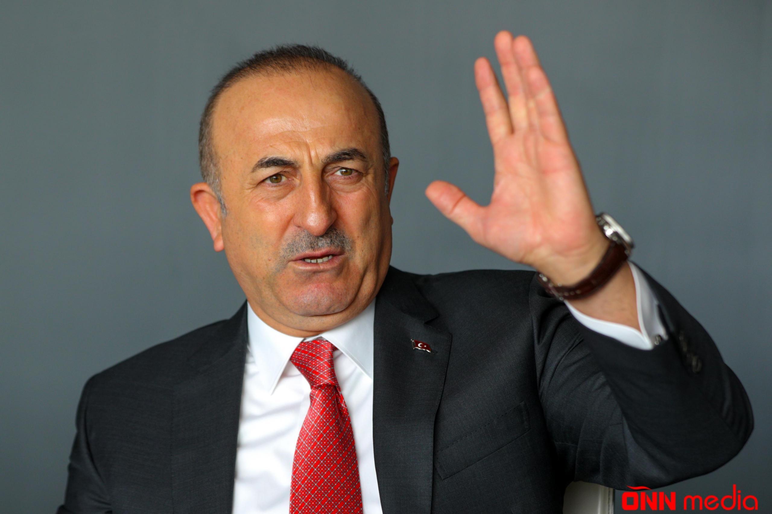 """Çavuşoğludan Azərbaycana DƏSTƏK: """"Ermənistan ağlını başına yığsın"""""""