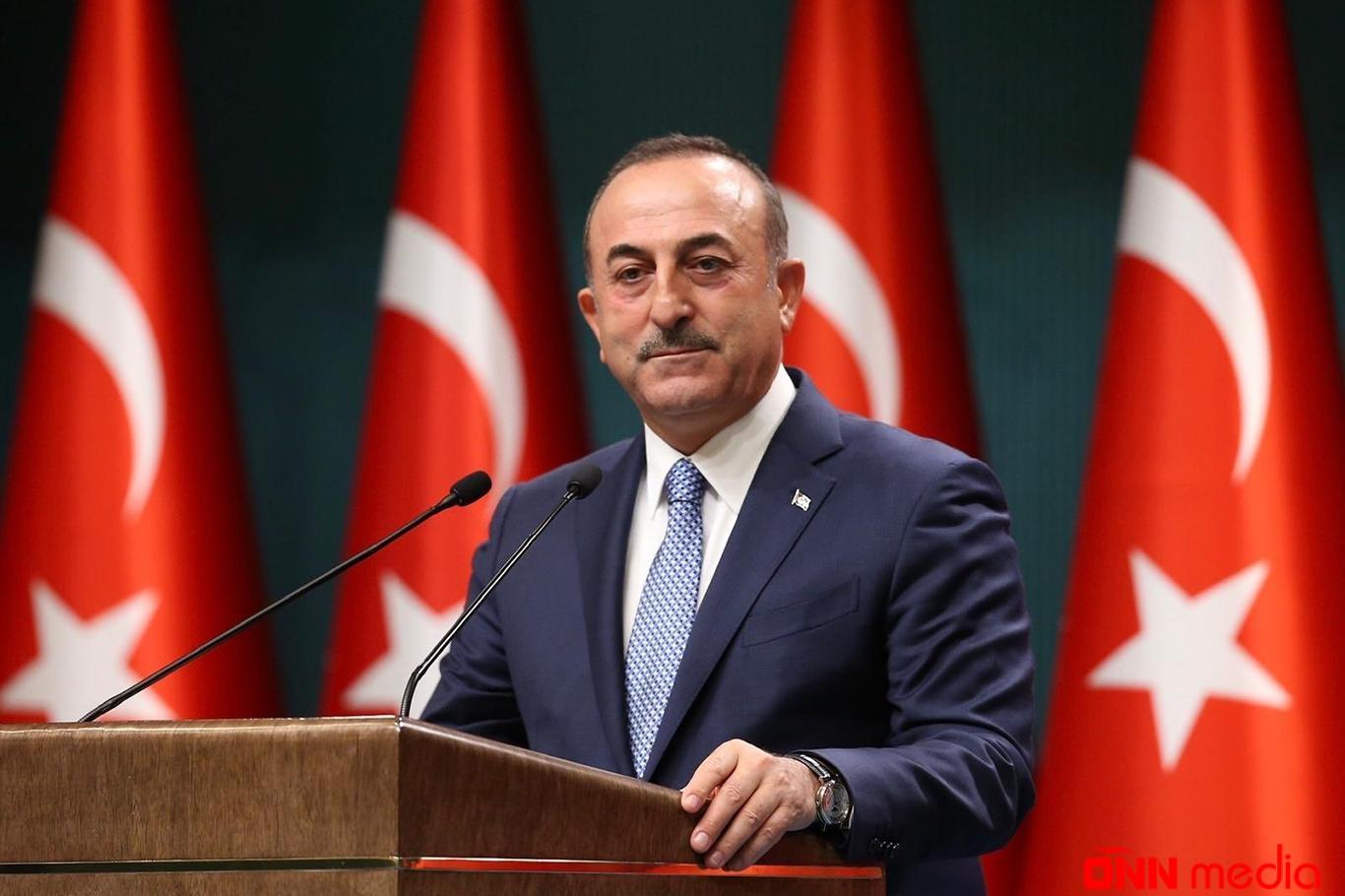 """Çavuşoğlu: """"Can Azərbaycana canımız fəda"""""""