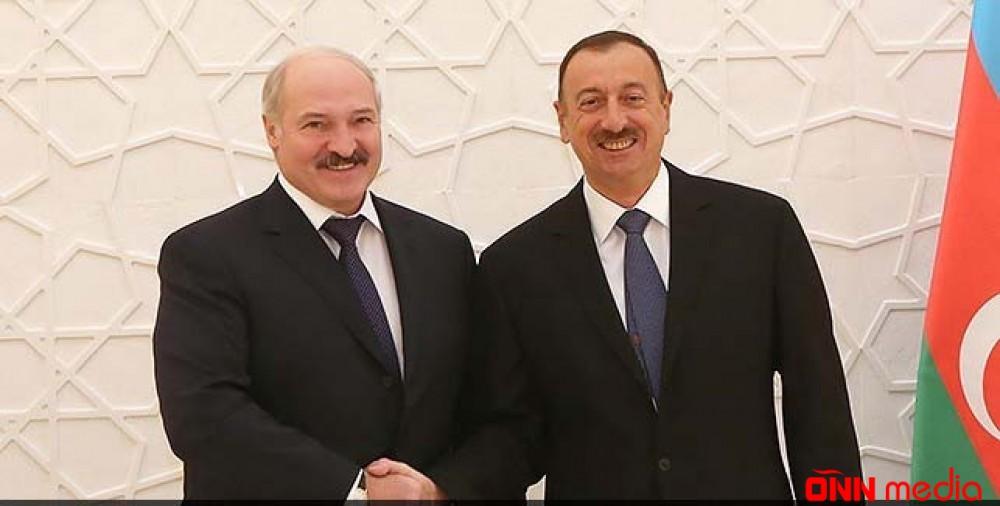 Prezident Aleksandr Lukaşenkoya məktub göndərdi