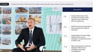 İlham Əliyevin yerli televiziya kanallarına müsahibəsi xarici KİV-lərdə