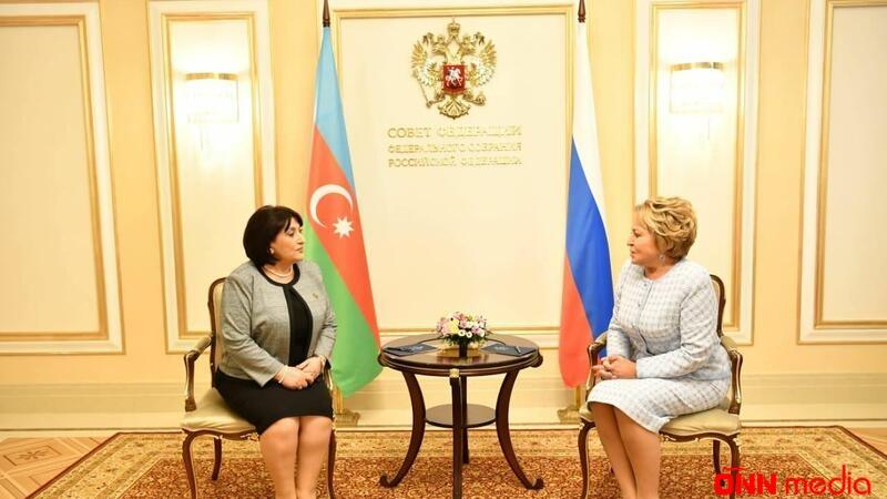 Sahibə Qafarova Matviyenko ilə görüşdü
