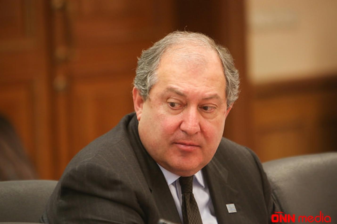 Ermənistan prezidenti Rusiyaya getdi
