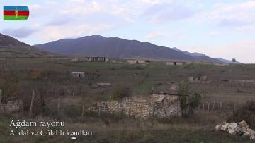 Ağdam rayonunun Abdal və Gülablı kəndlərindən – VİDEO