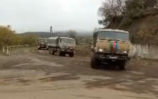 Ordumuzun hərbi korteji Qarabağ ərazisindən keçdi – VİDEO