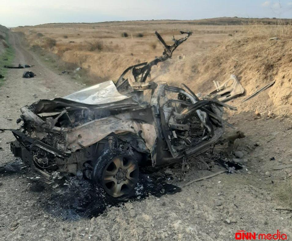 Füzulidə 1 ailədən 4 nəfərin öldüyü avtomobilin FOTOLARI