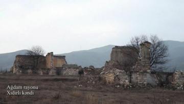 Müdafiə Nazirliyi Xıdırlı kəndinin görüntülərini yaydı – VİDEO
