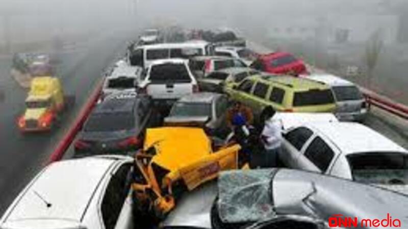 QORXUNC QƏZA: 40-a yaxın avtomobil toqquşdu – 10 nəfər…