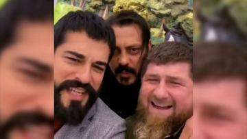 Zabit Səmədov, Burak Özçivit və Kadırov birlikdə – VİDEO