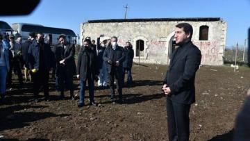 Diplomatlar Füzuli rayonunun Merdinli kəndində