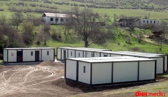 Azad edilmiş ərazilərdə yataqxanalar quraşdırılır – VİDEO