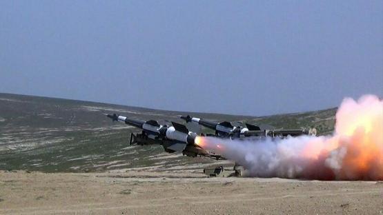 Zenit-Raket Qoşunlarında döyüş atışlı təlimlər keçirildi – VİDEO