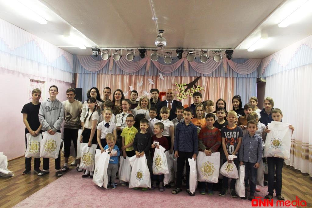 Heydər Əliyev Fondunun Rusiya nümayəndəliyi kimsəsiz uşaqlara sovqat payladı