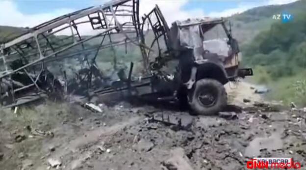 Jurnalistlərin minaya düşdüyü yer… – Dron görüntüləri yayıldı – VİDEO