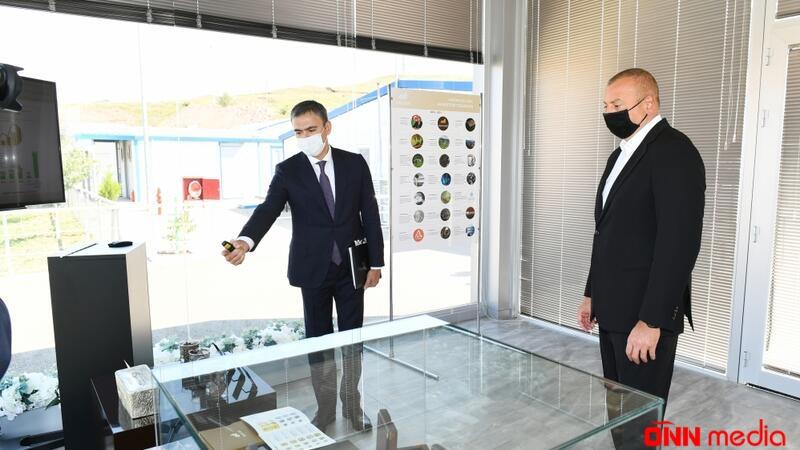 İlham Əliyev qızıl mədənində partlayış prosesini izlədi
