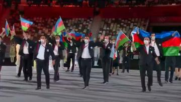 Tokio-2020: Azərbaycan nümayəndə heyəti paraddan keçdi