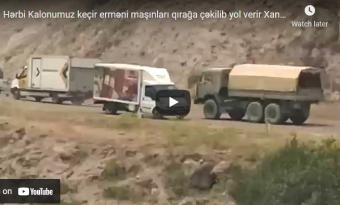 Hərbi kolonumuz Xankəndi yaxınlığından keçdi: ermənilər görün nə etdi… – VİDEO