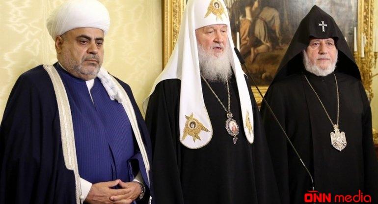 Azərbaycan, Rusiya və Ermənistan dini liderlərinin görüşü başlayıb