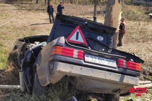 Azərbaycanda polis yol qəzasında öldü