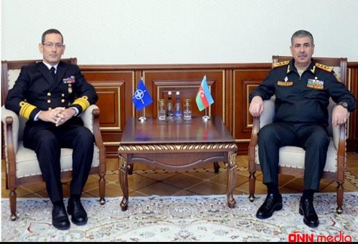 """NATO təmsilçisi Zakir Həsənovla görüşdü: """"Qətiyyətli dəstək"""" üçün minnətdarlıq"""