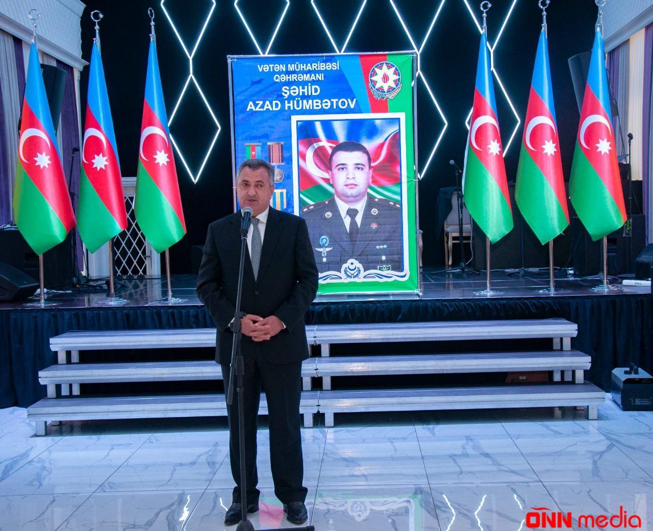 Şəhid Azad Hümbətovun anım tədbiri keçirilib – FOTOLAR