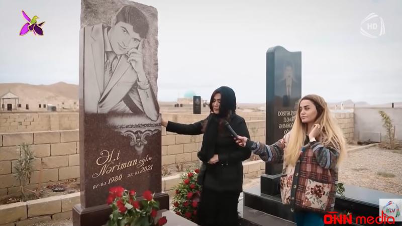 Nazpəri Dostəliyeva oğlunun məzarı başında ŞEİR DEDİ – KÖVRƏLDƏN GÖRÜNTÜLƏR